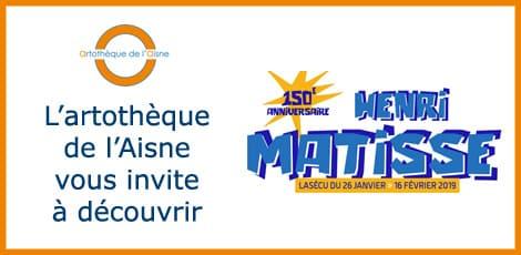 L'artothèque de l'Aisne vous invite à découvrir : Lasécu commémore les 150 ans d'Henri Matisse